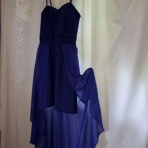 blue homecoming / prom / bridesmaid dress